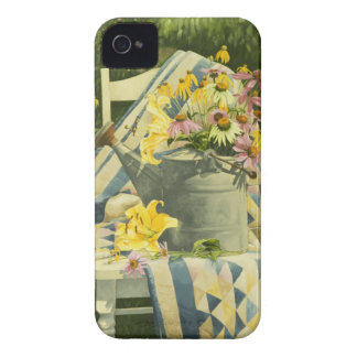 1138 Watering Can on Quilt in Garden Case-Mate iPhone 4 Case