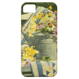 1138 Watering Can on Quilt in Garden iPhone 5 Cover