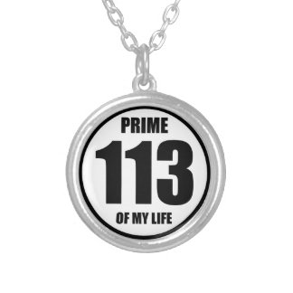 113 - prime of my life silver plated necklace