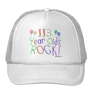 113 Year Olds Rock ! Mesh Hats