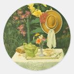 1144 Tea Time in Garden Stickers