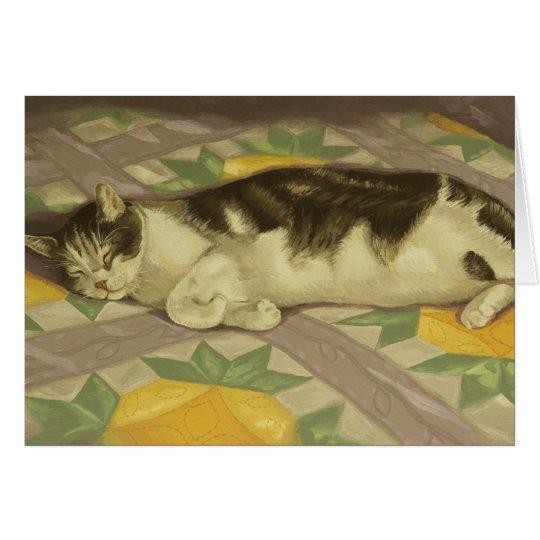 1149 Cat on Quilt Birthday Card