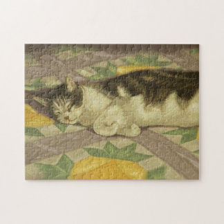 1149 Cat on Quilt Jigsaw Puzzle