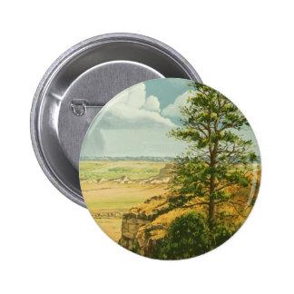 1158 Pine on Scotts Bluff Monument 6 Cm Round Badge