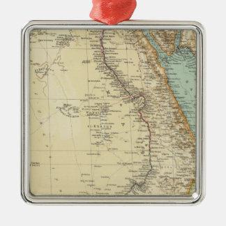 115 Egypt Silver-Colored Square Decoration