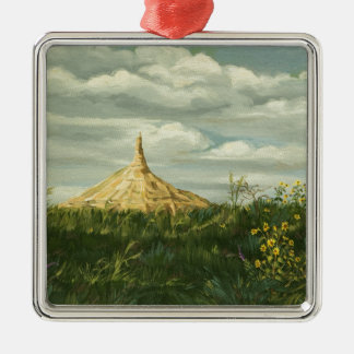 1170 Chimney Rock Landscape Christmas Ornament
