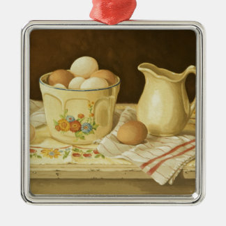 1175 Bowl of Eggs & Pitcher Christmas Ornament