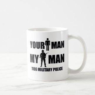 1186 Military Police My Man Basic White Mug