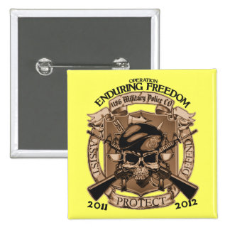 1186 MP Enduring Freedom 15 Cm Square Badge