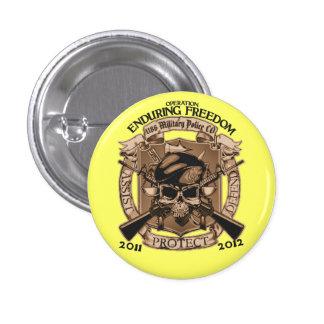 1186 MP Enduring Freedom 3 Cm Round Badge