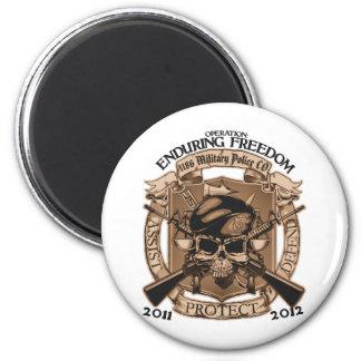 1186 MP Enduring Freedom 6 Cm Round Magnet