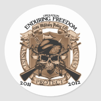 1186 MP Enduring Freedom Round Sticker