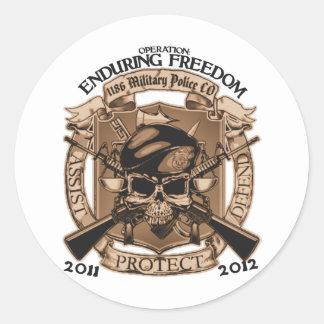 1186 MP Enduring Freedom Round Sticker
