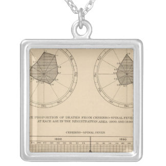 118 Deaths cerebrospinal fever Silver Plated Necklace