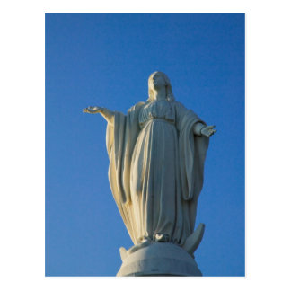 118-foot statue of the Virgin Mary on San Postcard