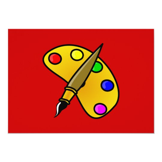 1194983991962367982paint.svg Artist palette colour Card