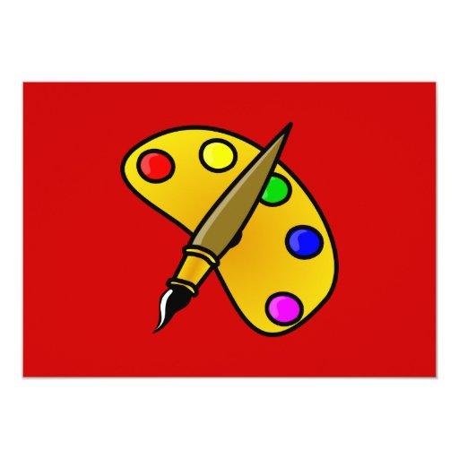 1194983991962367982paint.svg Artist palette colour 13 Cm X 18 Cm Invitation Card