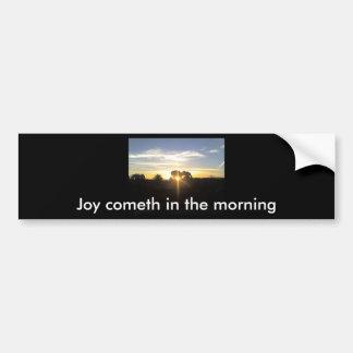 11-04-10 This morning's Sun Rise Car Bumper Sticker