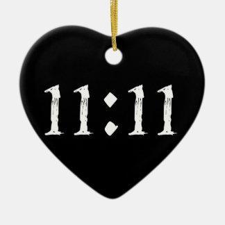 11:11 CERAMIC HEART DECORATION