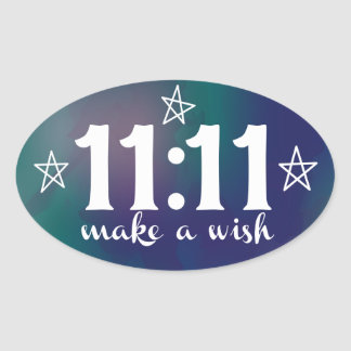 11:11, Make a Wish Oval Sticker