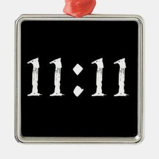 11:11 Silver-Colored SQUARE DECORATION