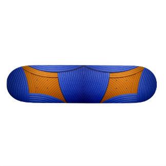11 Blue & Orange Skateboard Skate Board