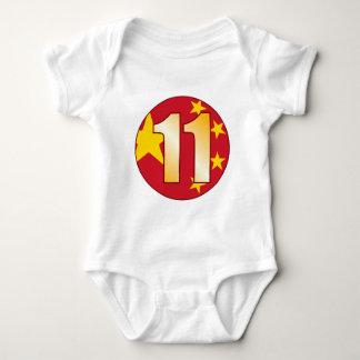 11 CHINA Gold Baby Bodysuit