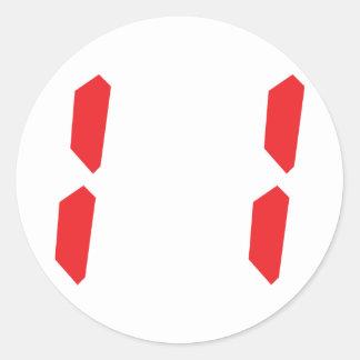 11 eleven red alarm clock digital number sticker