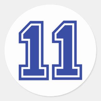 11 - eleven stickers