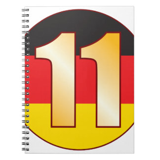 11 GERMANY Gold Notebook