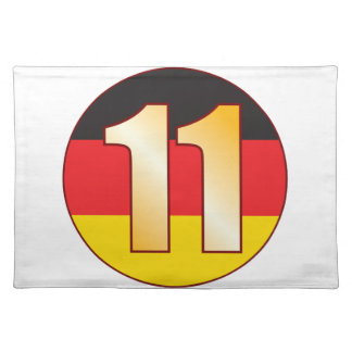 11 GERMANY Gold Placemat