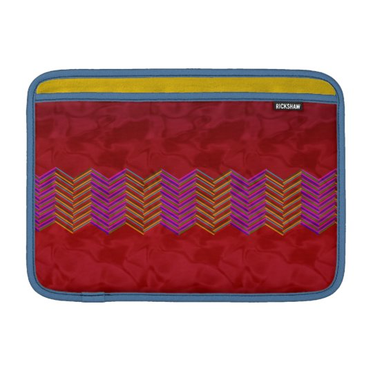 "11"" Mac Book Air Sleeve red zigzag MacBook Air Sleeve"