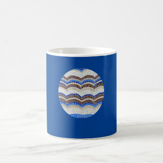 11 oz classic mug with blue mosaic