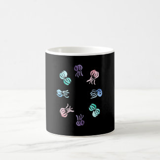 11 oz classic mug with jellyfishes