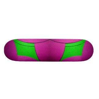 11 Pink & Green Skateboard Skateboard Deck