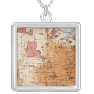 11 Population 1880 Silver Plated Necklace