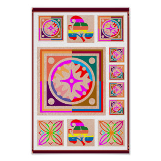 11 Square Decorations - Goodluck Oriental Art Poster