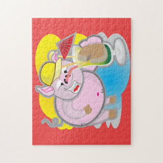 11'' x 14'' Smiling Pig puzzler Jigsaw Puzzle