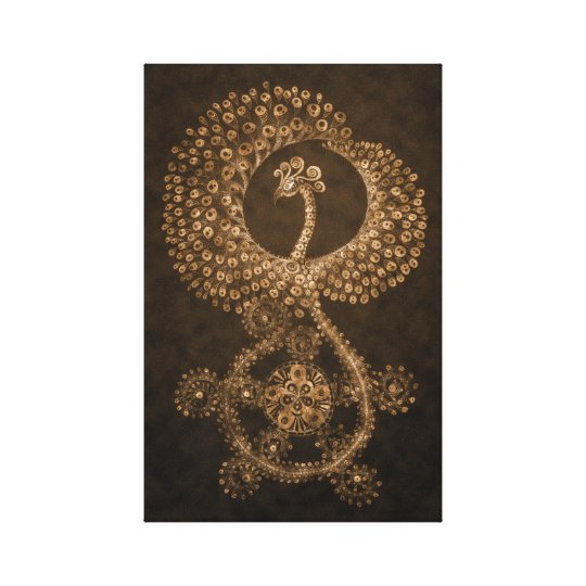 11 x 17 Bronze Abstract Phoenix Canvas Print