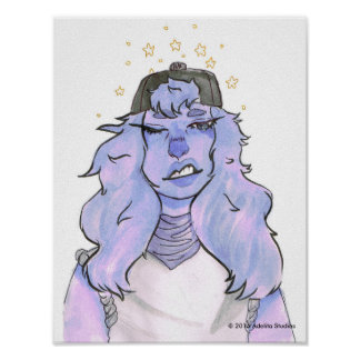 "11"" x 8.5"", Amethyst Poster"