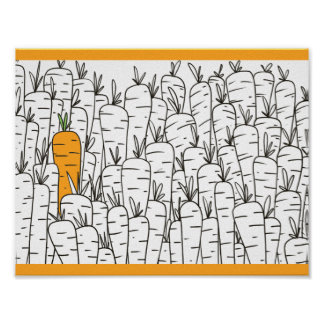 "11"" x 8.5"", Carrots Value Poster Paper (Matte)"