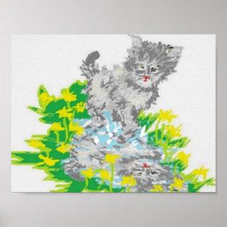 """11"""" x 8.5"""", Value Poster Paper (Matte) Kitten"""