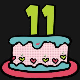 Enjoyable 11 Year Old Birthday Cake Clothing Apparel Shoes More Zazzle Uk Funny Birthday Cards Online Elaedamsfinfo