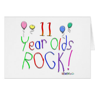 11 Year Olds Rock Card