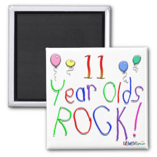 11 Year Olds Rock ! Refrigerator Magnet