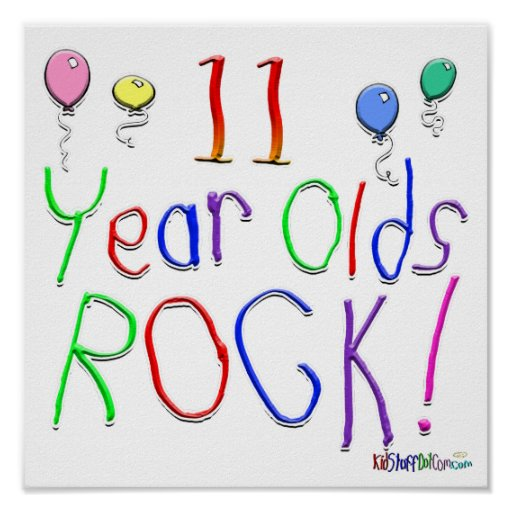11 Year Olds Rock ! Poster
