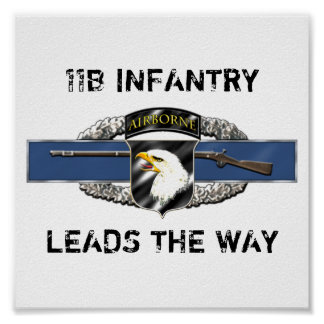 11B 101st Airborne Division Poster