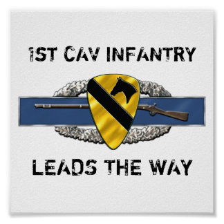 11B 1st Cavalry Division Posters