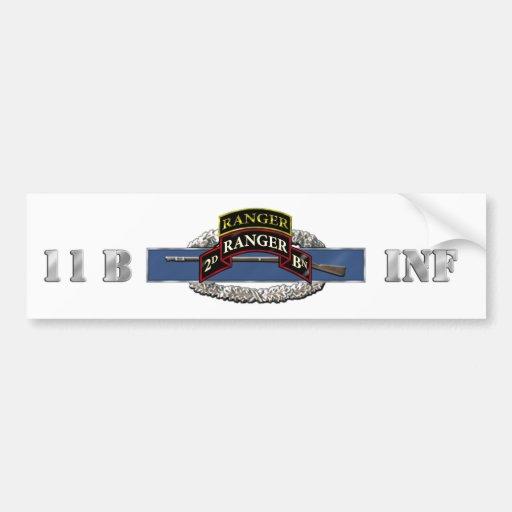 11B 75th Ranger 2nd Battalion w/ Tab Bumper Sticker