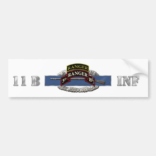 11B 75th Ranger 3rd Battalion w/ Tab Bumper Stickers